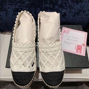 Chanel Espadrilles Size 38 (Fits Size 37)
